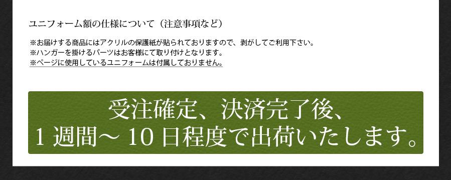 人工芝ユニフォーム額縁 Mサイズ(収容寸法:タテ900×ヨコ740×奥行30mm)【選べるフレームは3色】【送料別商品】