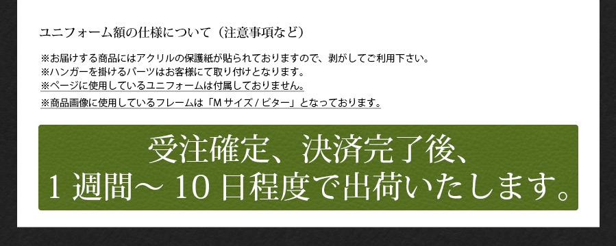 人工芝ユニフォーム額縁 Lサイズ(収容寸法:タテ1100×ヨコ900×奥行30mm)【選べるフレームは3色】【送料別商品】