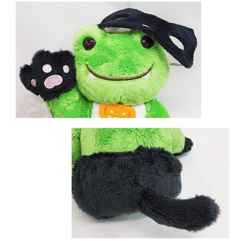 かえるのピクルス ハロウィンビーンドール 黒猫マスク
