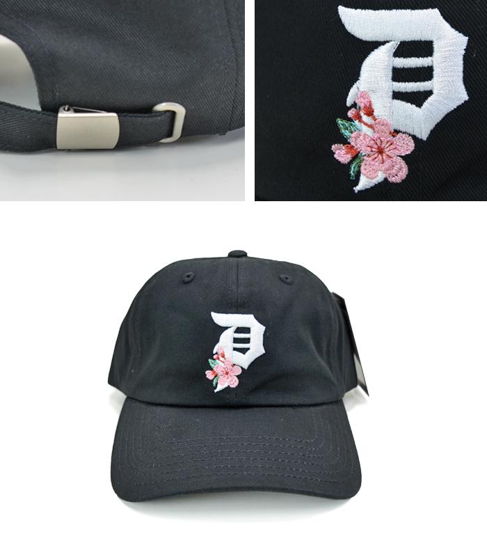 PRIMITIVE プリミティブ キャップ DIRTY P CHERRY BLOSSOM DAD HAT CAP 6-PANEL CAP 帽子 ストラップバックキャップ 6パネルキャップ ブラック 【送料無料】
