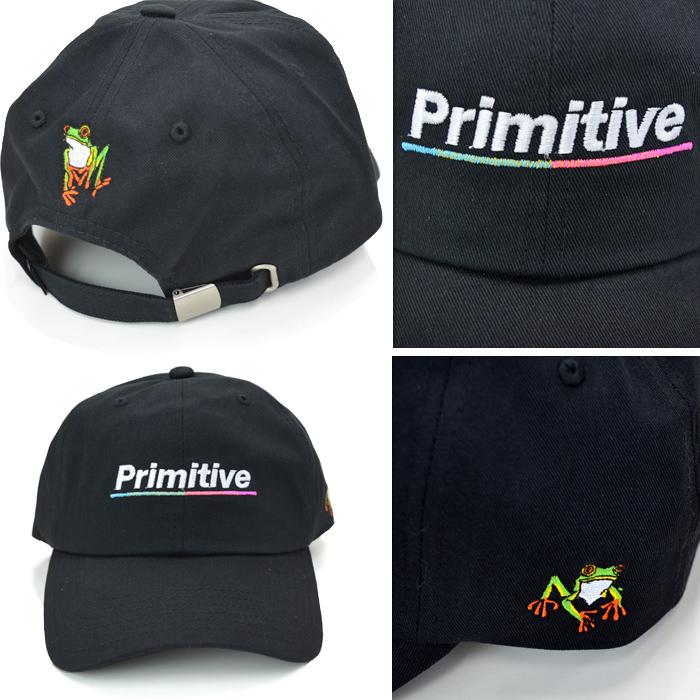 PRIMITIVE プリミティブ キャップ ANIMAL NATURE GAMMA STRAPBACK CAP 6-PANEL CAP 帽子 ストラップバックキャップ 6パネルキャップ ブラック クリーム 【送料無料】