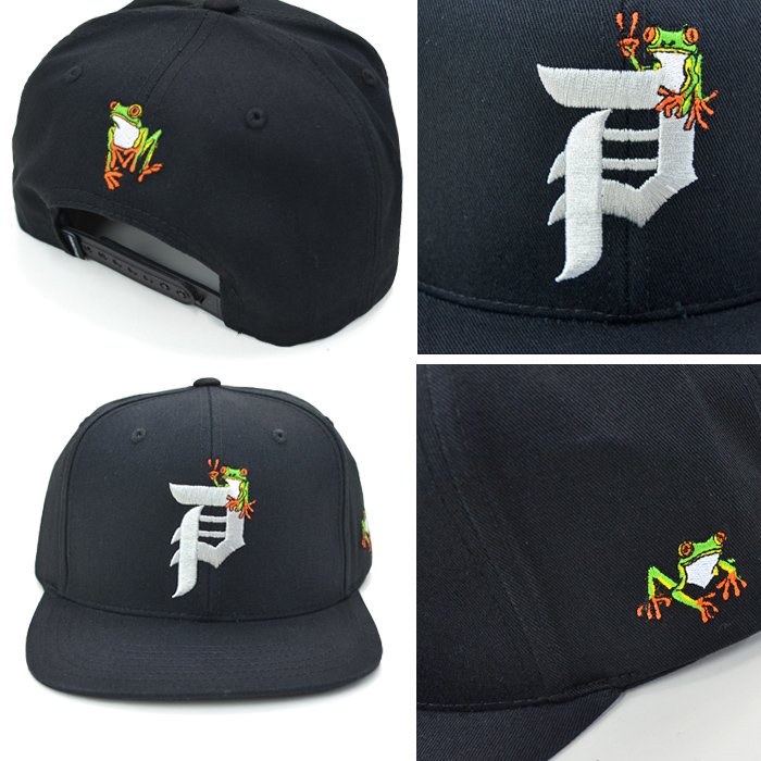 PRIMITIVE プリミティブ キャップ ANIMAL NATURE DIRTY P GAMMA SNAPBACK CAP 帽子 スナップバックキャップ 6パネルキャップ ブラック グリーン 【送料無料】