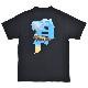 PRIMITIVE プリミティブ Tシャツ ANIMAL NATURE CROWNED TEE 半袖 カットソー トップス メンズ M-XL ブラック ホワイト 【単品購入の場合はネコポス便発送】【送料無料】