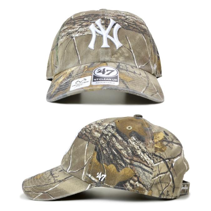 '47 フォーティーセブン キャップ REAL TREE 47 CLEAN UP CAP クリーンナップキャップ 帽子 ストラップバックキャップ MLB リアルツリー カモ 迷彩柄 【送料無料】