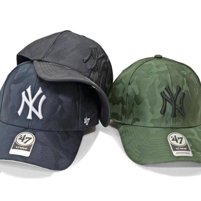 '47 フォーティーセブン YANKEES JIGSAW 47 MVP CAP キャップ 帽子 ストラップバックキャップ 迷彩柄 メンズ レディース ユニセックス 【送料無料】