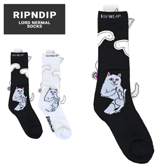 RIPNDIP リップンディップ LORD NERMAL SOCKS クルーソックス 靴下 RND2111 RND3583 【ネコポス便発送で送料無料】