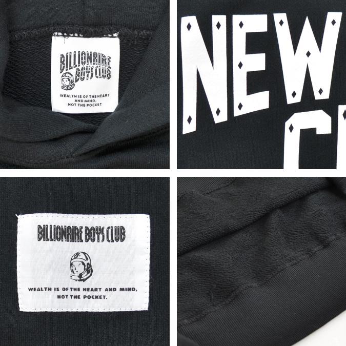 BILLIONAIRE BOYS CLUB ビリオネアボーイズクラブ パーカー NEW YORK CITY HOODIE フリース スウェット メンズ M-XL ブラック BBCJP193K001 【送料無料】【セール】