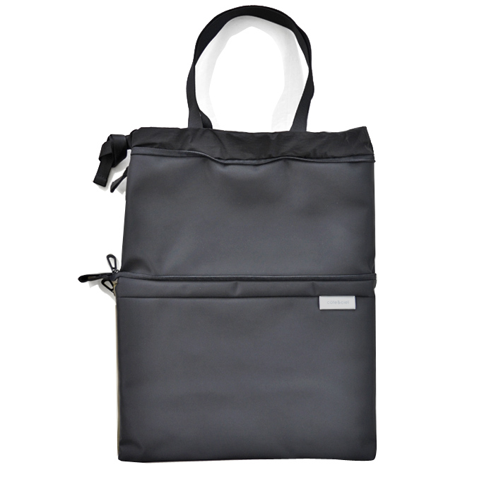 COTE&CIEL コートエシエル ZAAN SLEEK NYLON トートバッグ ショルダーバッグ クラッチバッグ 鞄 ブラック 28855 【送料無料】