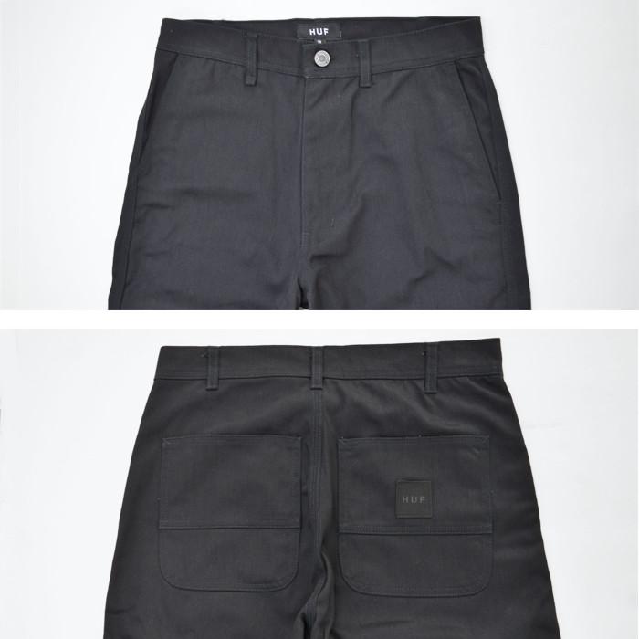 HUF ハフ パンツ BOYD PANT ワークパンツ チノパン 28-36 ブラック PT00161 【送料無料】