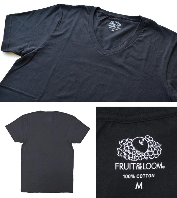 【2枚セット】FRUIT OF THE LOOM フルーツオブザルーム V-NECK 2 PACK T-SHIRTS 2パックT Tシャツ 半袖 アンダーウェア UNDERWEAR インナー M-LL 18597000