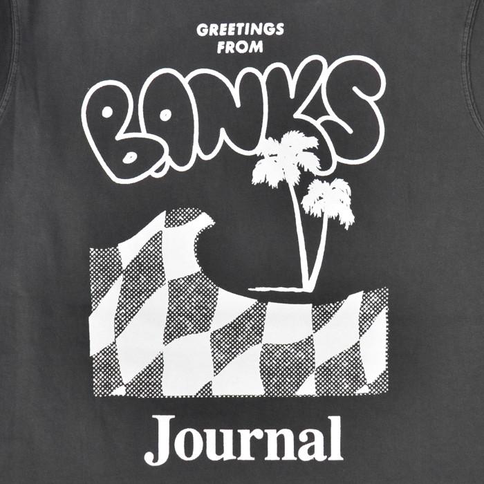 BANKS JOURNAL バンクス ジャーナル ロンT CALYPSO L/S T-SHIRT TEE 長袖 Tシャツ トップス カットソー メンズ S-XL ブラック オフホワイト WSMU0023 【単品購入の場合はネコポス便発送】【送料無料】