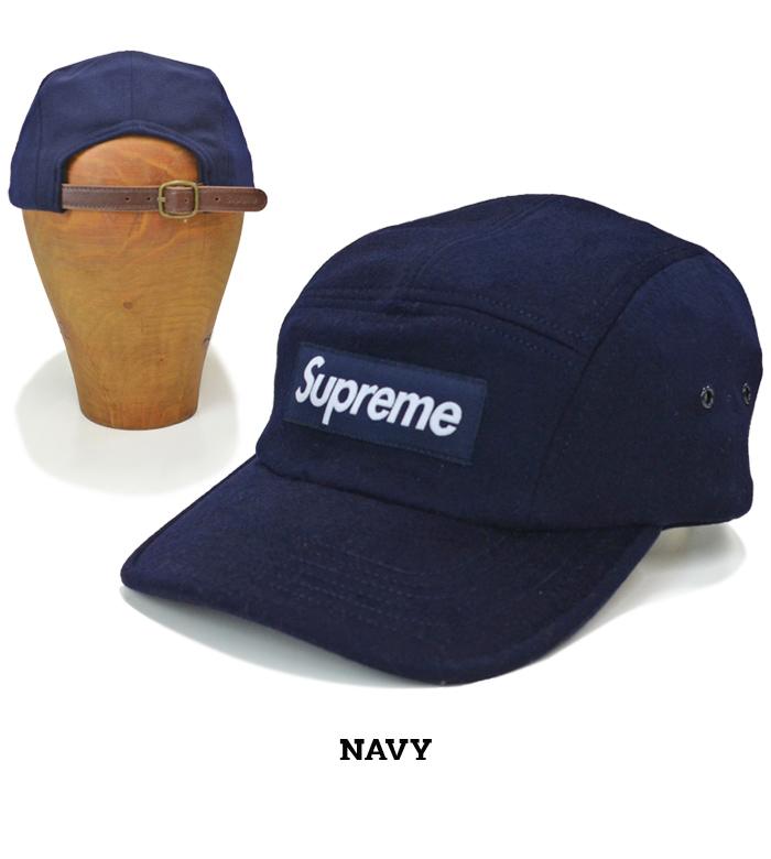 Supreme シュプリーム キャンプ キャップ WOOL CAMP CAP 5パネルキャップ 帽子 ストラップバックキャップ ネイビー カモ 迷彩 グリーン SUPREME 20AW 【送料無料】