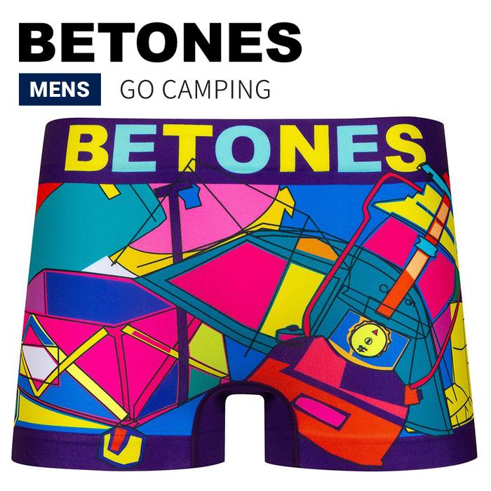 BETONES ビトーンズ ボクサーパンツ アンダーウェア GO CAMPING UNDERWEAR 下着 インナー ショーツ メンズ GOCA001 【単品購入の場合はネコポス便発送】