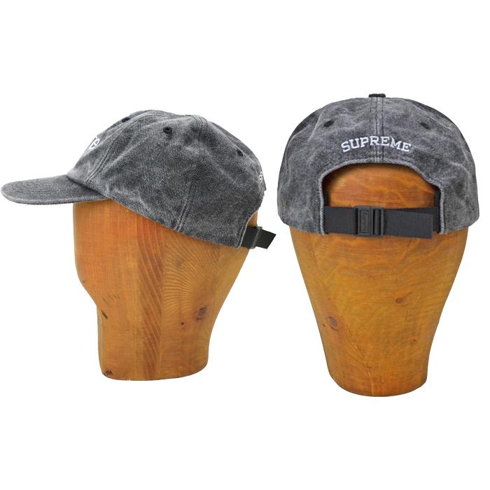 Supreme シュプリーム キャップ 2-TONE CANVAS 6-PANEL CAP 6パネルキャップ 帽子 ストラップバックキャップ ブラック SUPREME 20AW 【送料無料】