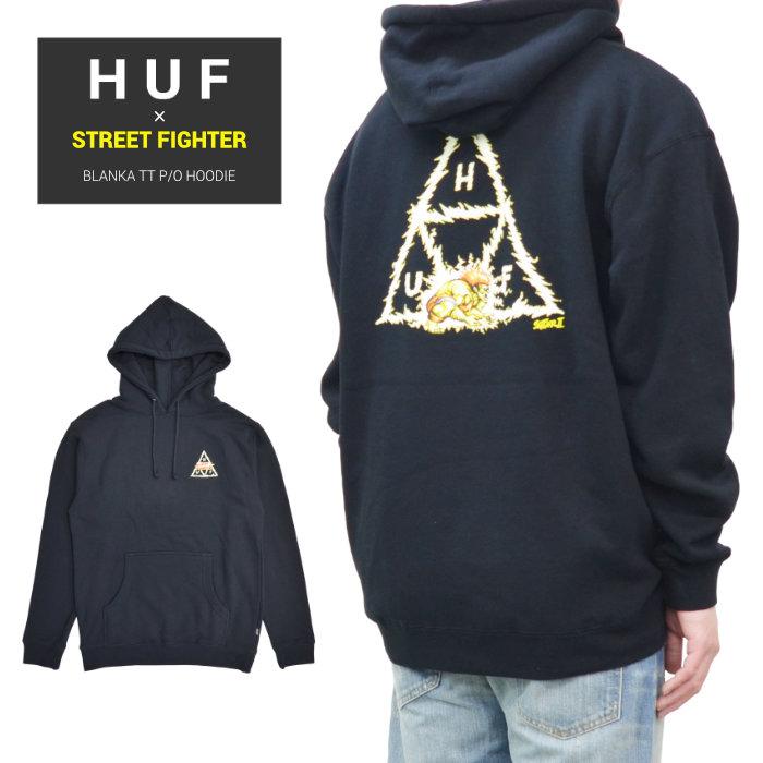 HUF × STREET FIGHTER ハフ × ストリートファイター パーカー BLANKA TT P/O HOODIE フリース スウェット メンズ S-XL ブラック PF00411 【送料無料】
