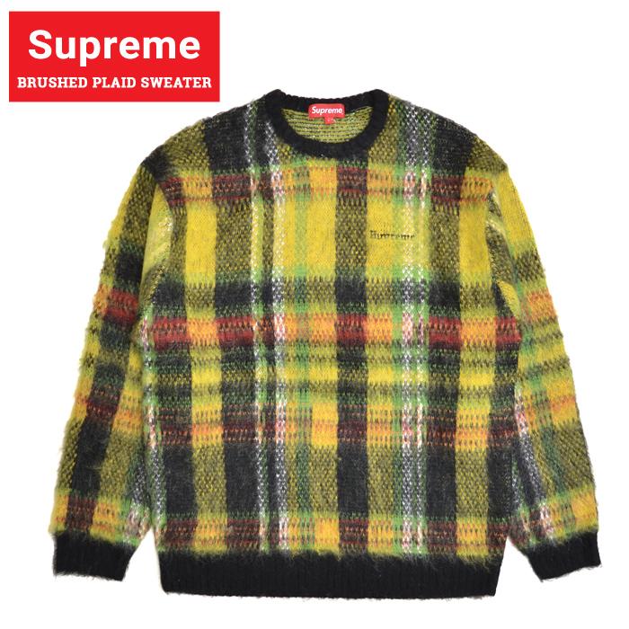 Supreme シュプリーム BRUSHED PLAID SWEATER セーター ニット クルーネック SUPREME 20FW 【送料無料】