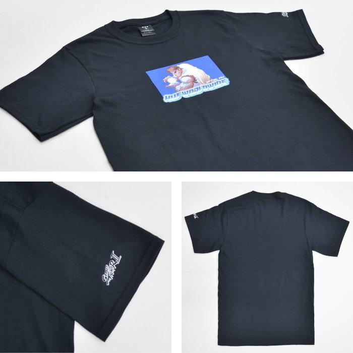 HUF × STREET FIGHTER ハフ × ストリートファイター Tシャツ RYU S/S TEE 半袖 カットソー トップス メンズ S-XL ブラック TS01556 【単品購入の場合はネコポス便発送】【送料無料】
