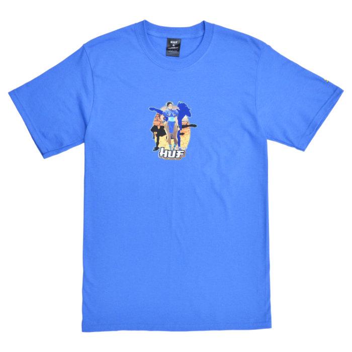HUF × STREET FIGHTER ハフ × ストリートファイター Tシャツ CHUN-LI S/S TEE 半袖 カットソー トップス メンズ S-XL ブルー TS01555 【単品購入の場合はネコポス便発送】【送料無料】
