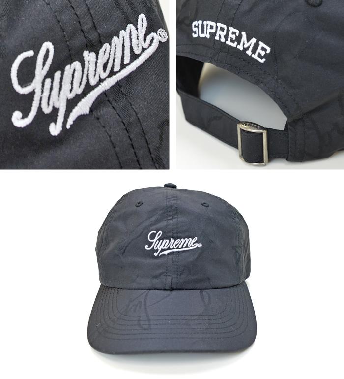 Supreme シュプリーム キャップ SCRIPT LOGO 6-PANEL CAP 6パネルキャップ 帽子 ストラップバックキャップ ブラック SUPREME 20AW 【送料無料】