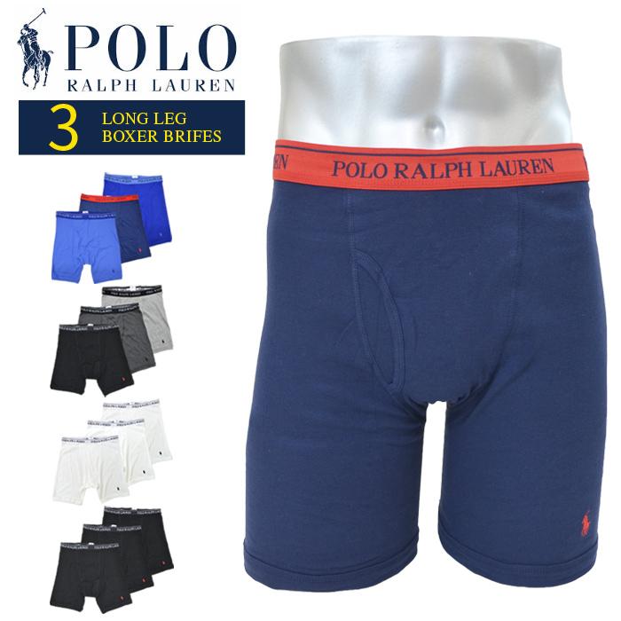 【3枚セット】 POLO Ralph Lauren ポロ ラルフローレン ボクサーパンツ アンダーウェア CLASSIC FIT LONG LEG BOXER BRIEFS 下着 インナー ショーツ メンズ S-2XL RCLBP3 RCL2P3 【送料無料】