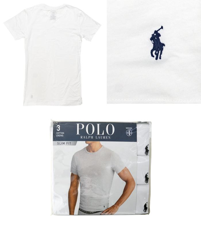 【3枚セット】 POLO Ralph Lauren ポロ ラルフローレン Tシャツ 3 COTTON CREW SLIM FIT アンダーウェア 下着 インナー スリムフィット カットソー トップス メンズ S-XL RSCNP3 【送料無料】