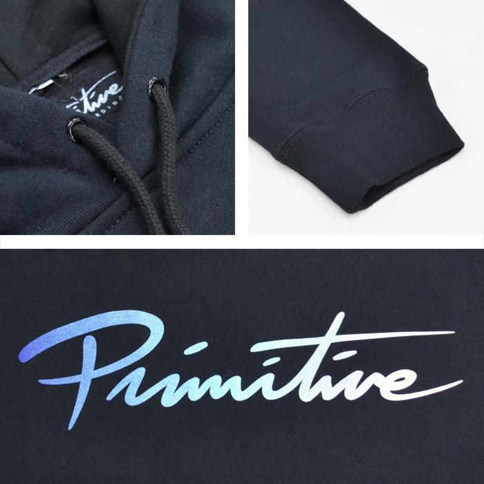 PRIMITIVE プリミティブ パーカー NUEVO TRAILS HOOD スウェット フリース 長袖 メンズ S-XL ブラック 【送料無料】