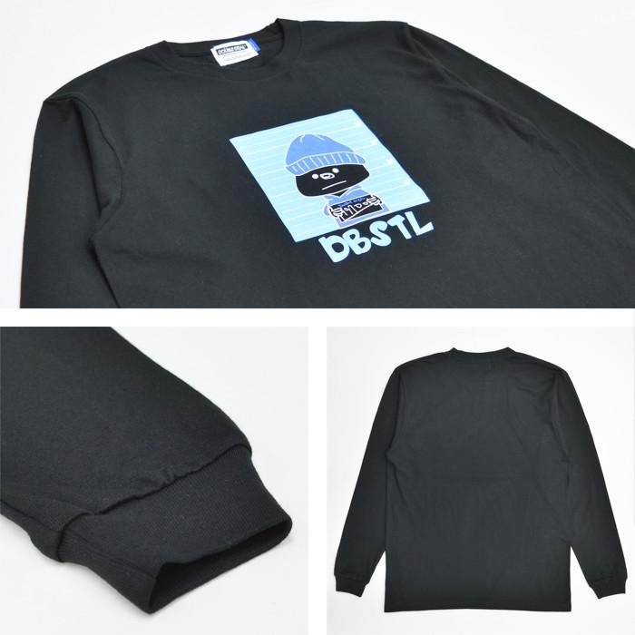 DOUBLE STEAL ダブルスティール ロンT SERIOUS DOUBZ L/S T-SHIRT TEE 長袖 Tシャツ カットソー トップス メンズ M-XL ブラック ホワイト 914-14049 【単品購入の場合はネコポス便発送】【送料無料】