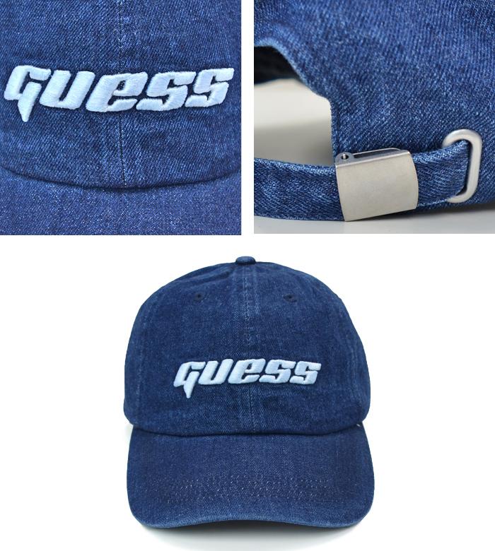 GUESS ゲス キャップ LOGO DENIM 6-PANEL CAP 6パネルキャップ ローキャップ 帽子 インディゴ M1RZ60WDR60 【送料無料】
