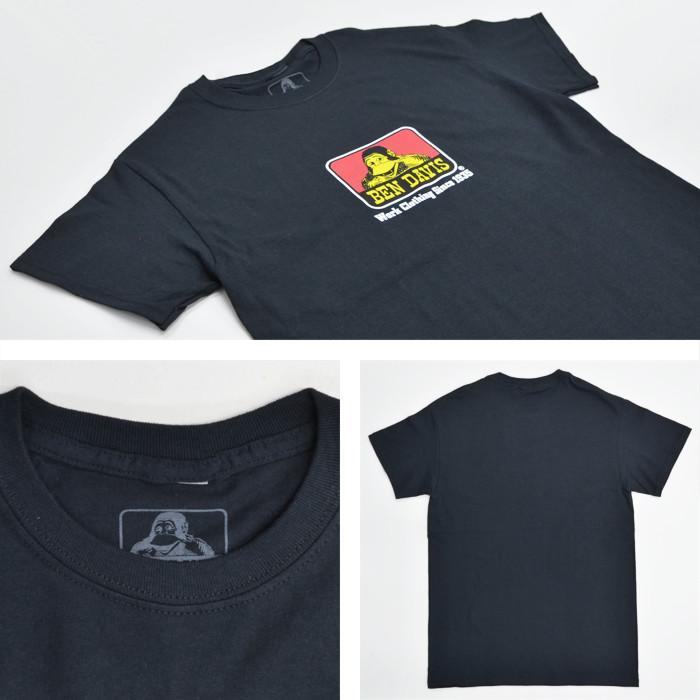 BEN DAVIS ベンデイビス Tシャツ CLASSIC LOGO TEE 半袖 カットソー トップス USAモデル メンズ ブラック ホワイト S-XL 9063 9065 【単品購入の場合はネコポス便発送】【送料無料】