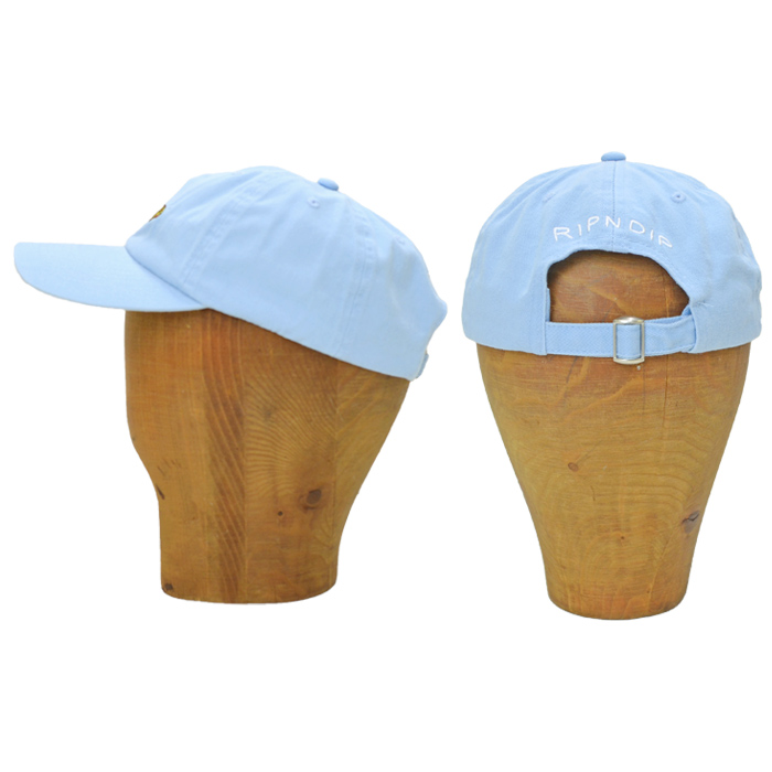 RIPNDIP (リップンディップ) キャップ CAPTAIN NERMAL PANTS DAD HAT CAP ストラップバックキャップ 帽子 6パネルキャップ ライトブルー RND4752 【送料無料】