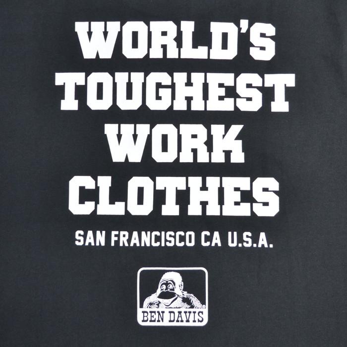BEN DAVIS ベンデイビス Tシャツ COLLEGE LOGO S/S TEE 半袖 カットソー トップス メンズ ブラック ホワイト M-XL C-1580038 【単品購入の場合はネコポス便発送】【送料無料】