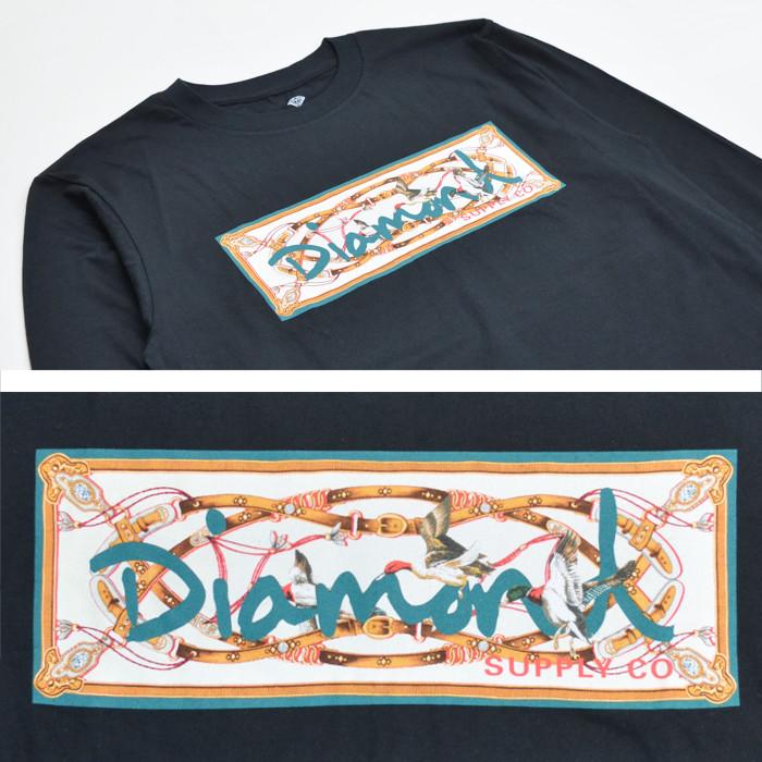 DIAMOND SUPPLY Co. ダイヤモンド サプライ ロンT CHESAPEAKE BOX LOGO L/S TEE 長袖 Tシャツ カットソー トップス メンズ M-XL ブラック ホワイト 【単品購入の場合はネコポス便発送】【送料無料】
