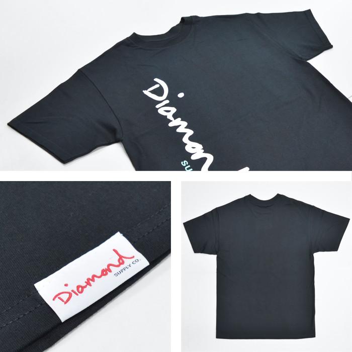 DIAMOND SUPPLY Co. ダイヤモンド サプライ Tシャツ OG SCRIPT TEE 半袖 カットソー トップス メンズ M-XL ブラック ホワイト 【単品購入の場合はネコポス便発送】【送料無料】
