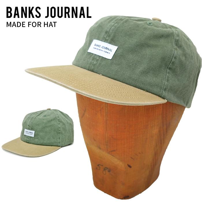 BANKS JOURNAL バンクス ジャーナル キャップ MADE FOR HAT CAP 帽子 ストラップバックキャップ STRAPBACK CAP 6パネルキャップ 6-PANEL グリーン HA0139 【送料無料】