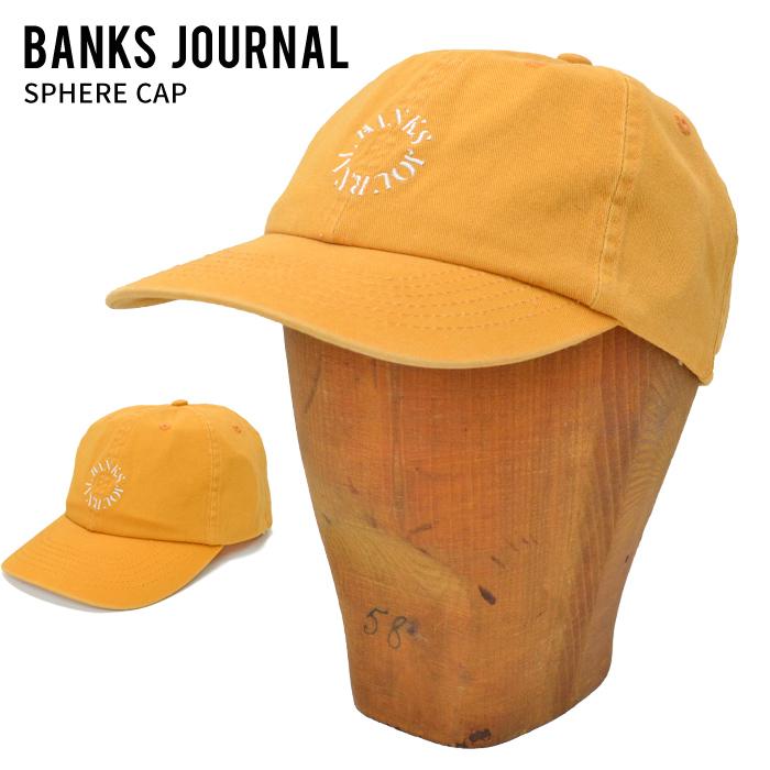 BANKS JOURNAL バンクス ジャーナル キャップ SPHERE CAP HAT 帽子 スナップバックキャップ SNAPBACK CAP 6パネルキャップ 6-PANEL イエロー HA0137 【送料無料】