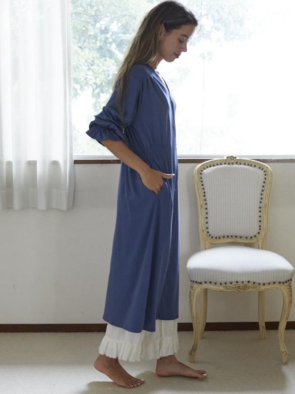 ベルガモットシャーリングドレス 直営店限定色ブルー
