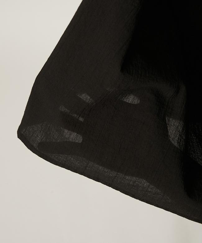 アザミギャザードレス ブラック