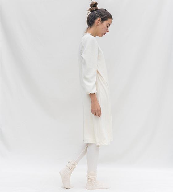 チューリップナイトドレス・コットンシルクリボン