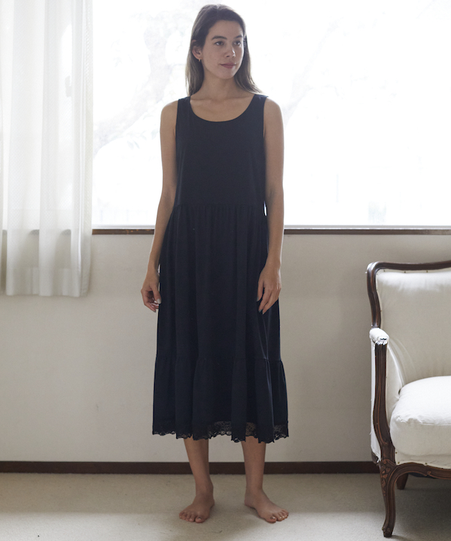 ペチコートドレス ブラック