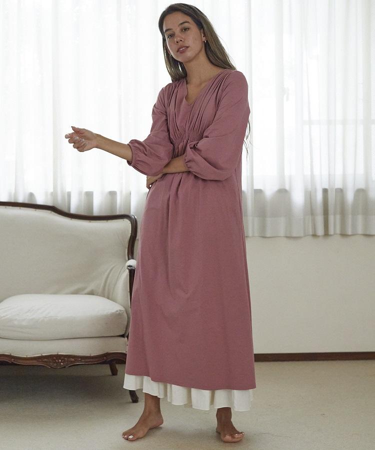 カトレアシャーリングドレス モーヴピンク