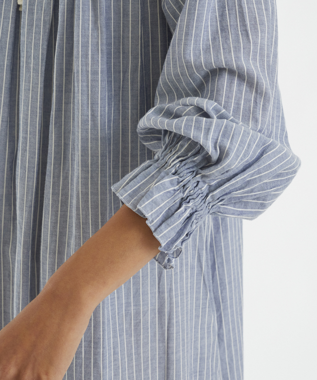チェリーブロッサムドレス ブルーストライプ