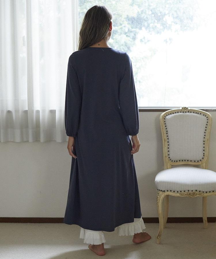 カトレアシャーリングドレス チャコールグレー