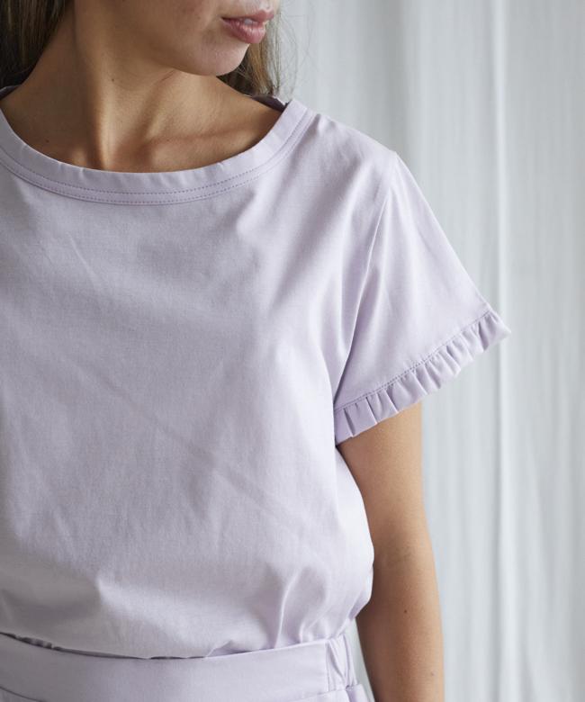 カモミールフリル Tシャツ パープル