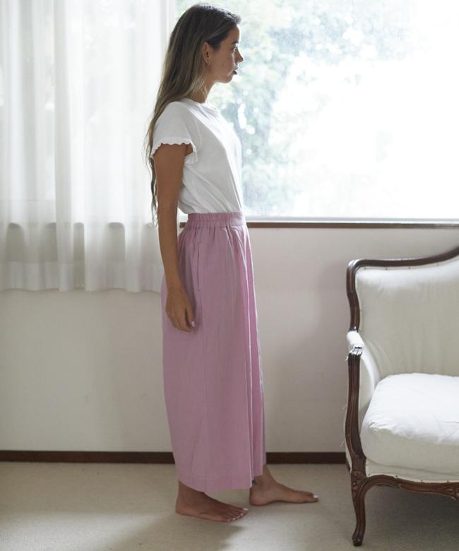 アザミキュロット ピンク