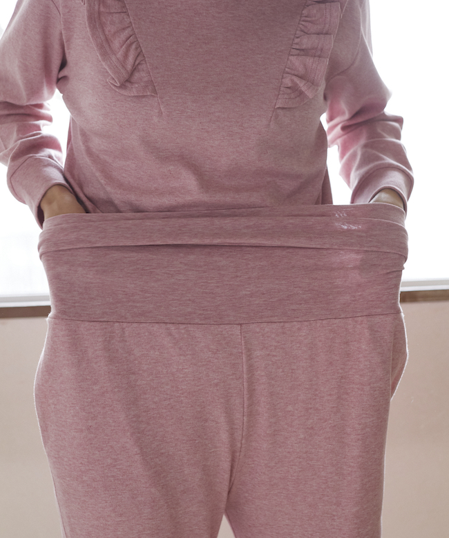 カトレアスムースパジャマ ピンク*上下セット