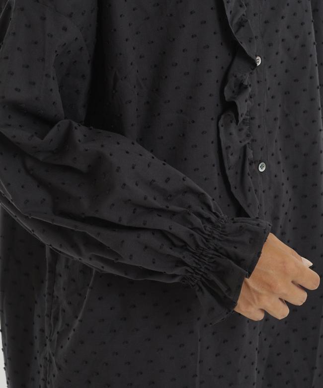 スノードットサイドフリルシャツ