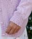 スカラップウールカーディガン ピンク
