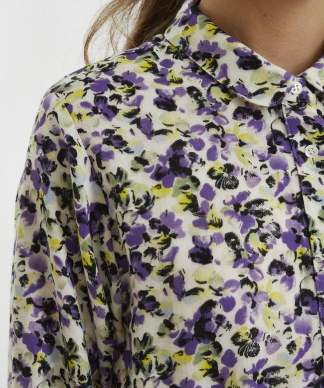ヴァイオレットガーゼシャツドレス