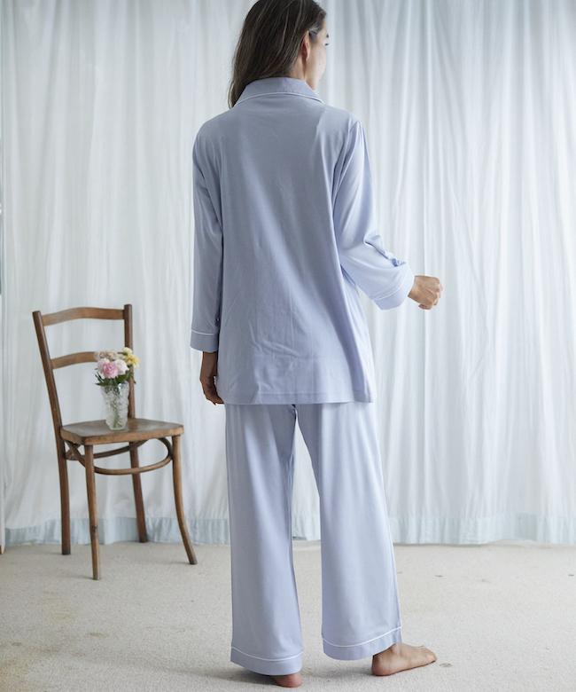 ベルガモットパジャマ ライトブルー *上下セット