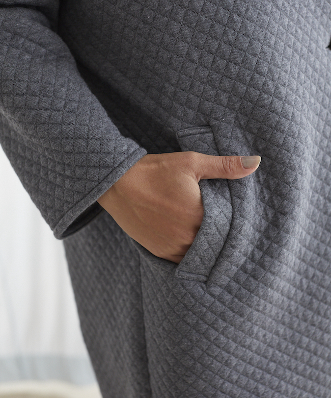 キルティングコート チャコールグレー